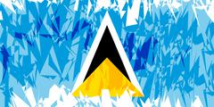 Flag of Saint Lucia. Stock Illustration