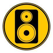 Audio speaker button. Piirros