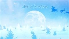 Winter Wonder Merry Christmas 4K Loop Stock Footage