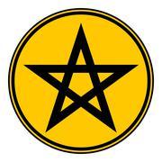 Pentagram button. Piirros