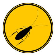 Cockroach button. Stock Illustration