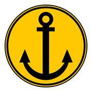 Anchor button. Stock Illustration