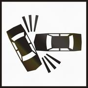 Hungarian supplementary road sign - Accidents Stock Illustration