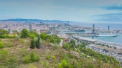 Barcelona cityscape view Stock Footage