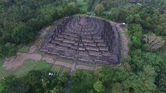 Aerial View of Borobudur Temple Stock Footage