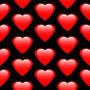 Love heart seamless pattern. Stock Illustration