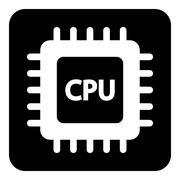 Microchip symbol button. Stock Illustration