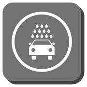Car Wash Rounded Square Glyph Icon Piirros