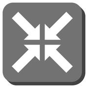 Pressure Arrows Rounded Square Glyph Icon Stock Illustration