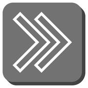 Shift Right Rounded Square Glyph Icon Stock Illustration