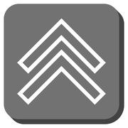 Shift Up Rounded Square Glyph Icon Stock Illustration