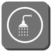 Shower Rounded Square Glyph Icon Stock Illustration