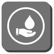 Water Service Rounded Square Glyph Icon Stock Illustration