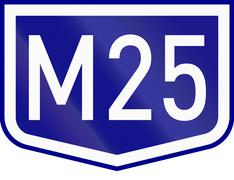 Route shield of a numbered highway in Hungary Stock Illustration