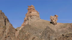 Charyn Canyon Sandstones 4k Stock Footage