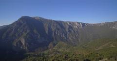 Aerial, Mountainous Forest, Autumn, Montenegro Stock Footage