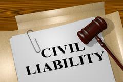 Civil Liability - legal concept Stock Illustration