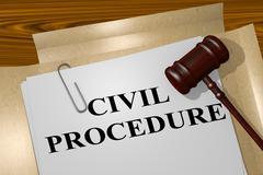 Civil Procedure - legal concept Piirros