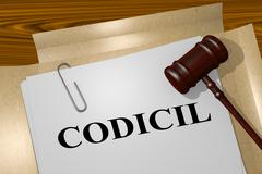 Codicil - legal concept Stock Illustration
