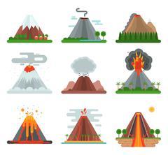 Volcano vector illustration. Stock Illustration