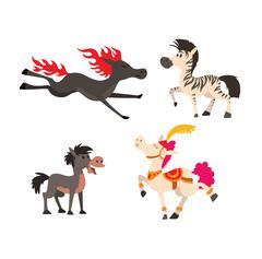 Cartoon horse vector character Stock Illustration