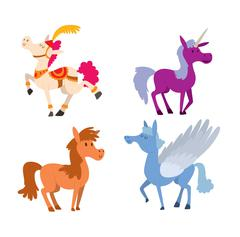 Cartoon horse vector character Piirros