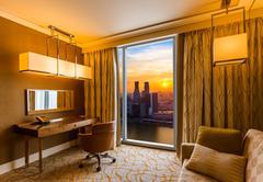 Hotel room and Singapore view Kuvituskuvat