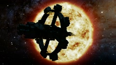 Space Ship and Sun Star. Elements of this image furnished by NASA Arkistovideo