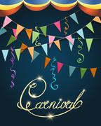 Carnival Poster Festive Design Stock Illustration