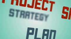 Project business management video tag text animation Stock Footage