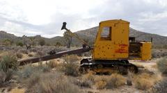 Abandon Mining Crane on the Mojave Desert Stock Footage