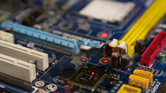 Master repair computer board Stock Footage