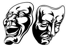 Theatre Masks Stock Illustration