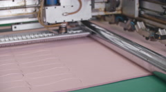 Automated Insole Making Machinery Stock Footage