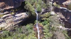 Waterfall Drone Shot Stock Footage