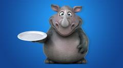 Fun rhino - 3D Animation Stock Footage