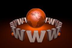 The new information era. Web technologies. International communication system. Stock Illustration
