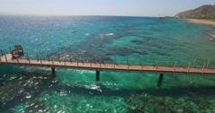 Bridge views of sea coral Stock Footage