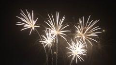 Fireworks celebration new year Stock Footage