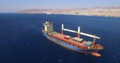 Cargo ship  - Aerial Shot Arkistovideo