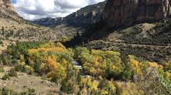 Tensleep Creek Wyoming Fall Colors Stock Footage