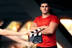 Fitness Male Model Ready For a Shoot Stock Photos
