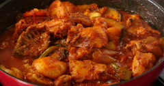 Chuncheon, Korea Dakgalbi, sort of chicken food Stock Footage
