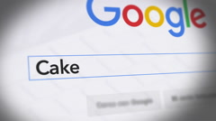 Google Search Engine - Search For Cake Arkistovideo