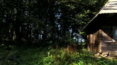 Tourist cabin in the woods 2 Stock Footage