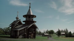 Russian old temple Stock Footage