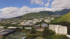 Aerial University of Hawaii at Manoa Stock Footage