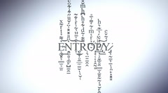Entropy concept animation Stock Footage
