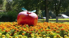Red Apple Almaty Downtown 4k Stock Footage