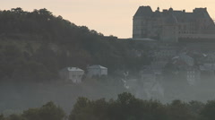 Hautefort, Dordogne, France Stock Footage